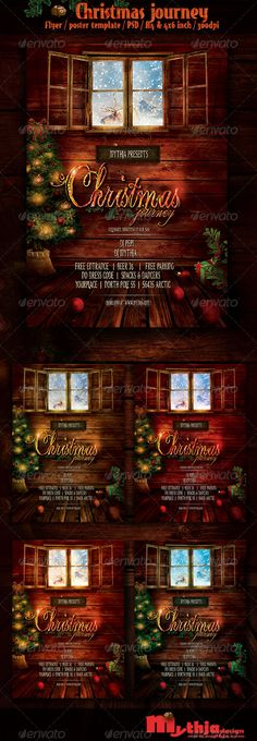 Christmas Journey  Event Flyer/Poster Template  — PSD Template #concert #design • Download ➝ https://graphicriver.net/item/christmas-journey-event-flyerposter-template/3574891?ref=pxcr