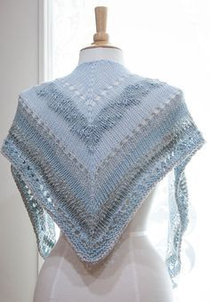 Age of Brass & Steam Shawl knit in Feza Alp Natural - Hill Country Weavers