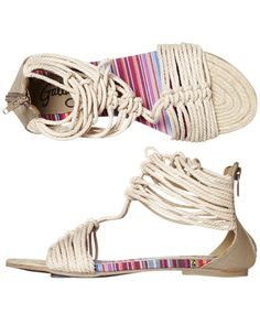 Cherry sandals in off white, AU$24 (on sale), by Gallaz, from Surfstitch, Australia.