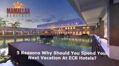 Are you planning a vacation? if yes, you are landed on the right page here you will come to know the top five reasons why should you spend your next vacation at ECR hotels. Heritage Hotel, Us Beaches, Beach Resorts, Vacation, Luxury, Outdoor Decor, Modern, Vacations, Trendy Tree