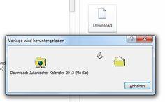 Kalender-Vorlagen für das neue Jahr 2013 in Microsoft Word