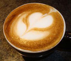 Latte art by Stockton Graham's Larz!