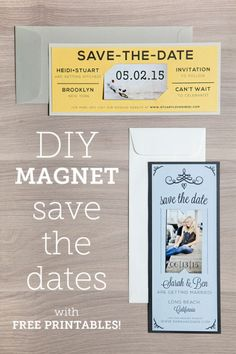 Make your own save the date magnets out of business card magnets magnet save the date free printable tutorial accmission Image collections