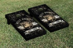 Army Black Knights Rustic Established Banner Cornhole Game