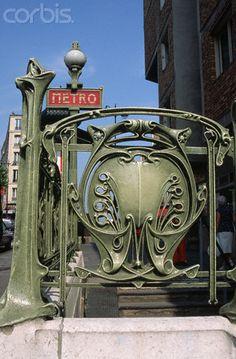 Art Nouveau Metro Entrance