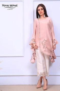 Best 12 – Petal Pink Casual Wear Pakistani Dress in Chiffon – SkillOfKing. Pakistani Fashion Casual, Pakistani Dresses Casual, Indian Gowns Dresses, Pakistani Dress Design, Mehndi Fashion, Stylish Dress Designs, Designs For Dresses, Stylish Dresses, Kurta Designs Women