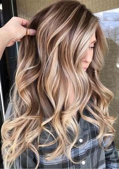 Looking for latest hair color shades and highlights for more interesting hair colors look? No need to search any more just see for stunning ideas of blonde balayage hair colors for various hair… Grey Balayage, Hair Color Balayage, Balayage Long Hair, Balayage Hair Brunette With Blonde, Blonde Honey, Bronde Balayage, Honey Hair, Bronde Haircolor, Brown Hair With Blonde Highlights