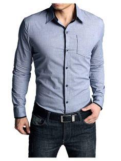 8a471e73267 Stylish Sky Blue Casual Shirt Formal Shirts For Men