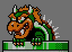 pixel art bowser