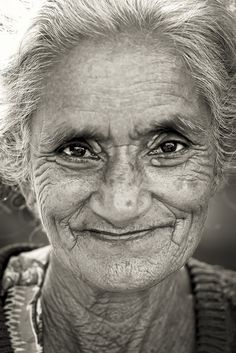 Old lady at Mingun - Myanmar (Burma) eyes are windows to the soul