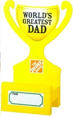 The Home Depot Kids Workshop: Free Father's Day Trophy Smart Phone Holder on June 4, 2016, 9am - 12pm