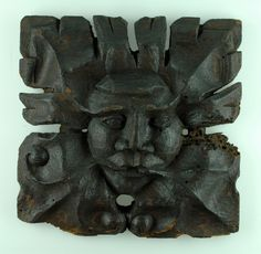 Owston Abbey 'Green Man', a fifteenth-century wooden carving from an Augustinian abbey church; a symbol of natural/foliage renewal. (Charmwood Museum/Leicestershire County Council)