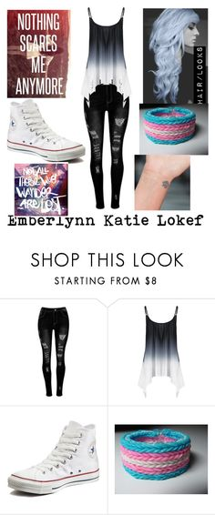 """""""Emberlynn//OC//Ignore"""" by too-trashy-4-u ❤ liked on Polyvore featuring Converse and Oliver Gal Artist Co."""