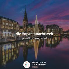 """Aufgabe 475  Die Zeit _____ Weihnachten nennt man """"Vorweihnachtszeit"""".  a) vor b) an c) nach  #learngerman #deutschlernen"""