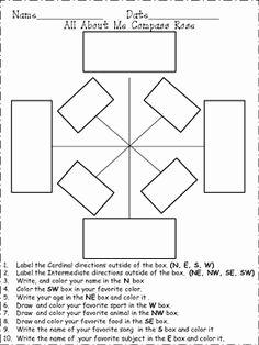 Compass Rose Worksheet Kindergarten Compass Rose Kindergarten Worksheets Interactive Notes Compass rose worksheet kindergarten