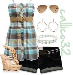 """""""Summer Western"""" by callico32 ❤ liked on Polyvore....need different shoes"""