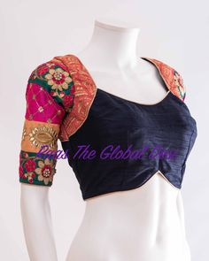 Readymade saree blouse online USA Premium range of blouses, croptops, handwork blouses which can be mixed and matched with variety of Sarees and lehengas . Saree Blouse Neck Designs, Fancy Blouse Designs, Choli Designs, Bridal Blouse Designs, Stylish Blouse Design, Designer Blouse Patterns, Blouse Styles, Indian Outfits, Vogue India