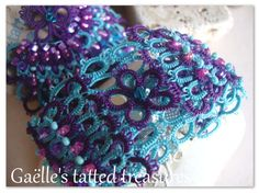 Lace tatted 'Unforgettable' earrings and by gaestattedtreasures