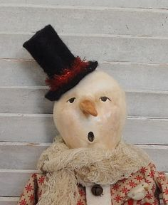 This snowy gentleman is so unique! It looks like his carrot nose is quite congested--poor fellow.