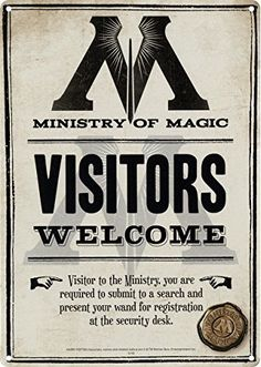 Harry Potter Ministry Of Magic A5 Steel Sign