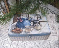 """Чайный короб """"Чашка чая в зимний день"""" -  Зоя Чернышова Подарки для души"""