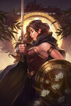 Wonder Woman by Marisa Oh on ArtStation. Wonder Woman Fan Art, Wonder Woman Drawing, Wonder Woman Comic, Wonder Women, Marvel Girls, Comics Girls, Deathstroke, Jean Grey, Power Girl