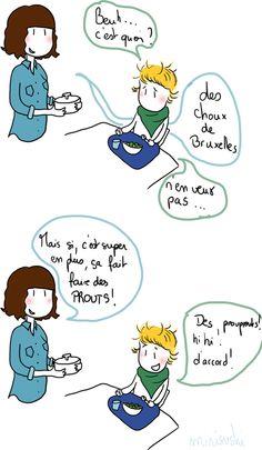mange tes choux de bruxelles Inner Child, Comics, Brussels Sprouts, Belgium, Childhood, Humor, Comic Book, Comic Books, Comic
