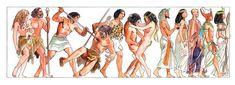 Sexo y violencia: la historia de la humanidad dibujada por Milo Manara