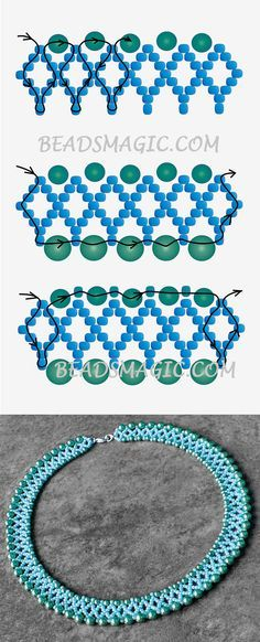 Free pattern for necklace Alto   Beads Magic