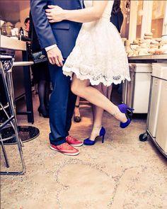 Something blue and definitely something special from #shoesofprey bride, @kgerdesmn. We love! Image courtesy of @travisandersonphoto. #weddingshoes #wedding #bridalshoes #shoelife #somethingblue