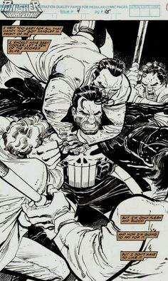 Original Comic Art titled The Punisher War Zone Issue 4 Page 15 by John Romita Jr., located in Conny's Some of my collection Comic Art Gallery Comic Book Pages, Comic Book Artists, Comic Artist, Comic Books Art, Anime Comics, Marvel Comics, Punisher Marvel, Daredevil, Gi Joe