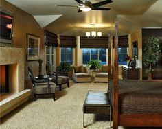 Bedroom Fireplace Ideas | Pointe, and Box Modern Stone Fireplace Mantels - traditional - bedroom ...