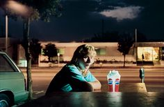 """Philip-Lorca diCorcia, """"Brent Booth, 21 years old, Des Moines, Iowa, 30 dollars"""""""