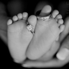 Cute idea for mommy and daddy's rings