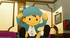 Luke Triton - Professor Layton. Bounce to you, bounce to you! .... K Pop reference, I'm sorry... Sorry, sorry, sorry, sorry! ...It never ends xD