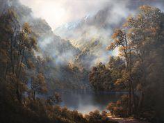 """Képtalálat a következőre: """"new zealand landscape paintings"""" Landscape Art, Landscape Paintings, Oil Paintings, Wilson Art, New Zealand Landscape, New Zealand Art, Nz Art, Artwork For Home, Maori Art"""