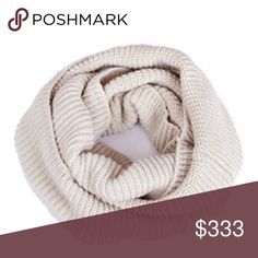 ❌LAST CALL ❌ MUST BE BUNDLED    SCARF Cream infinity scarf.   I try to catch the color that best reflects color of item. There may be a slight color difference. BOUTIQUE ITEMS MAY OR MAY NOT HAVE A TAG, BUT ARE NEW SHIPPED FROM VENDOR. Accessories Scarves & Wraps