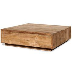 Salon blok teak 100x100 - Salontafels - Tafels   Zen Lifestyle