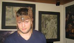 Leder Elfen Krone Echse Warrior crown headband braun lotr diadem larp stirnband herr der ringe headpiece elfen mittelalter medieval woodland von Elbengard auf Etsy