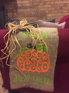 Vinyl on burlap garden flag