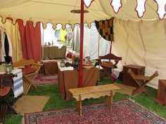 Genvieve's encampment < Pinned for portable furniture and rugs ideas.