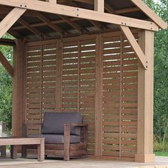 The pergola kits are the easiest and quickest way to build a garden pergola. There are lots of do it yourself pergola kits available to you so that anyone could easily put them together to construct a new structure at their backyard. Patio Pergola, Pergola Shade, Patio Roof, Pergola Kits, Backyard Patio, Backyard Landscaping, Pergola Ideas, Pergola Plans, Small Pergola