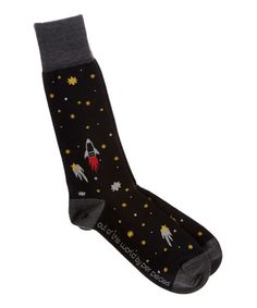 This Black Out of This World Pima-Blend Socks is perfect! #zulilyfinds