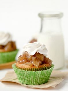 Apple Pie Cupcakes  Recipe- Thanksgiving Buffet Idea
