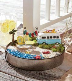 DIY fairy garden ideas are whimsical, pretty, and easy to make. Here are 20 DIY fairy garden ideas to try at home. Beach Fairy Garden, Fairy Garden Houses, Fairies Garden, Gnome Garden, Garden Terrarium, Succulent Planters, Hanging Planters, Garden Planters, Succulents Garden