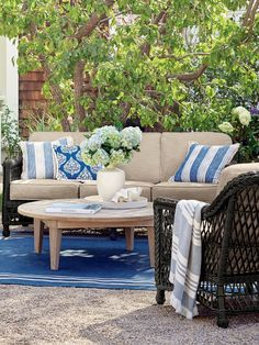Our Hampton Seating Collection has a relaxed, southern attitude, intricately handwoven in black walnut resin wicker. Unwind in a choice of seats, all softened with thick, all-weather seat and back cushions. Smoothly woven tables are the perfect finish.