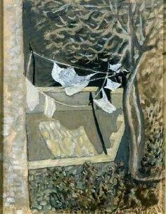 Washing Line, 1930 Nikos Hadjikyriakos-Ghikas Cubist Artists, Greek Paintings, Tate Gallery, Georges Braque, Byzantine Art, Painter Artist, 10 Picture, Greek Art, Art Database