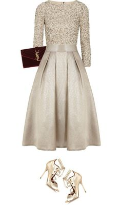 "This would be such a fun sparkle outfit to wear to a party! ""christmas's eve"" by littlebambii on Polyvore"