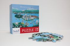 Butzi Kids Puzzles These adorable puzzles (and coordinating placemats!) will make Lower Mainland kids feel right at home. With two different models that feature both Vancouver proper and the Whistler area, kids can play, learn, and explore the area they call home, all with original artwork and a kid-friendly design.  www.butzikids.com     $16