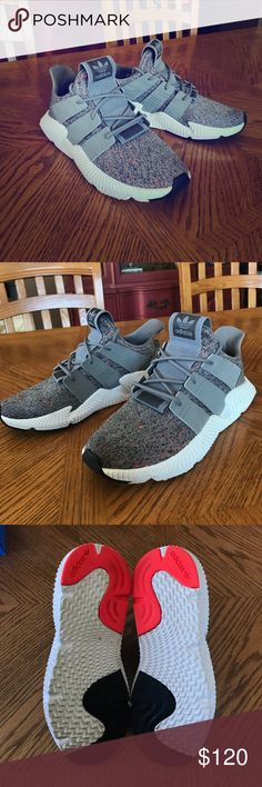 Adidas Prophere Used adidas grey prophere Only been worn 4/5 times 9/10 condition Comfortable and durable shoe! Size 9.5   (fits like a 10) Comes with original box and foot locker receipt  NO TRADES adidas Shoes